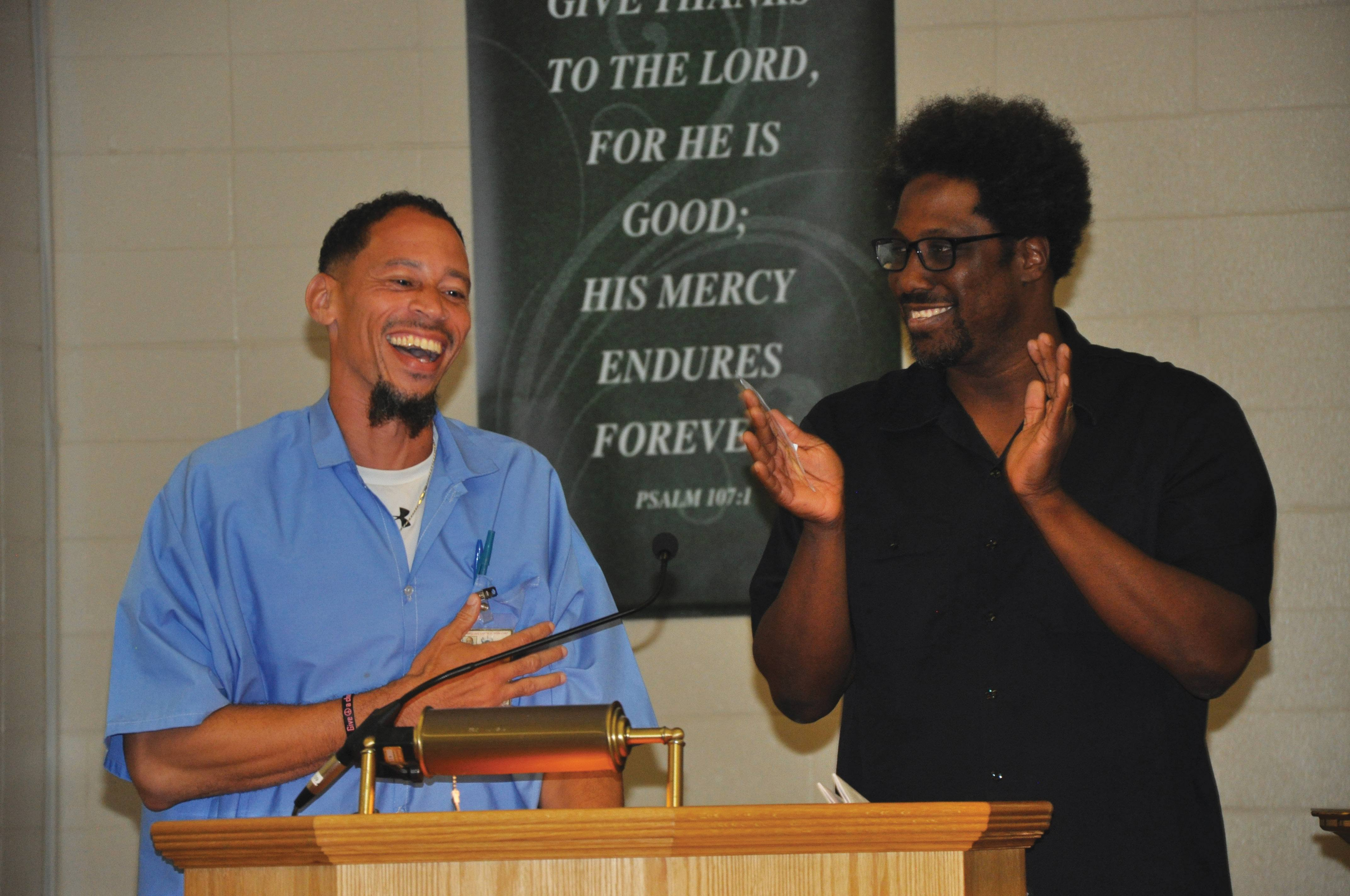 Hosts Rahsaan Thomas and W. Kamau Bell