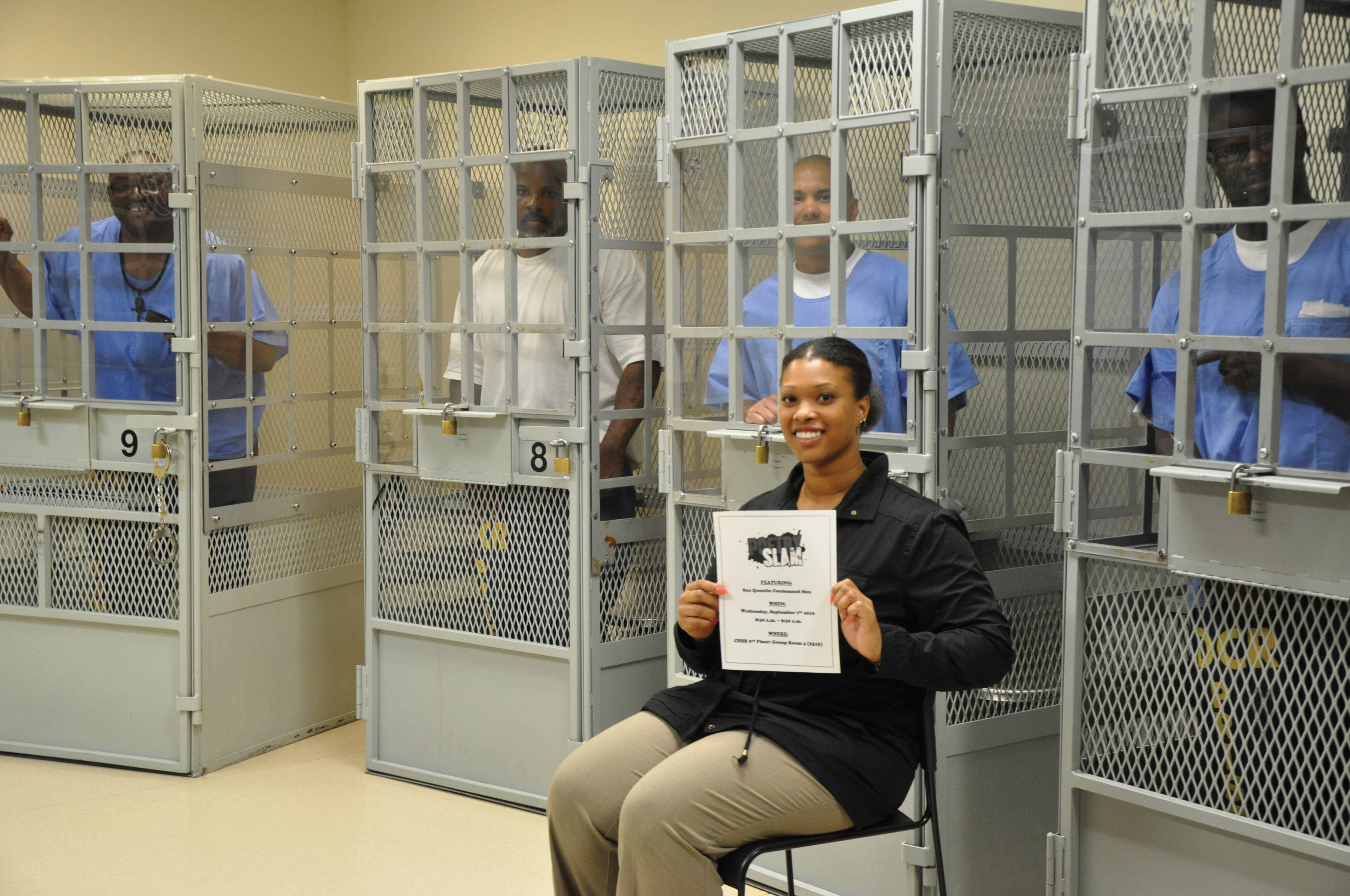 Death Row inmates in SQ's CHSB with recreation therapist D. Bell