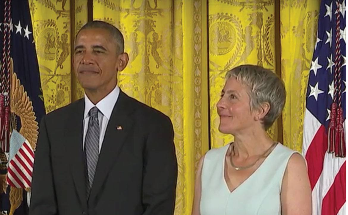 President Obama and Jody Lewen at the White House