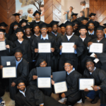 GED and vocational graduates from the Robert E. Burton school