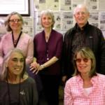 San Quentin News Advisers Jan Perry, Linda Xiques, Steve McNamara Bottom: Joan Lisetor and Nikki