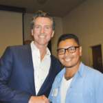 Lt. Gov. Newsom with Melendez