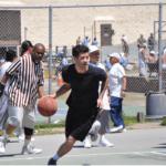 Ryan Steer dribbling down the court