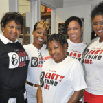 "Mamie Jackson, Sonja Brown, Clemmie ""G"" Greenlee, Marleny Richiez and Tiffany Love in the SQ Media Center"