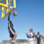 Josh Hatcher dunking on a fast break