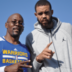 SQ center Brad Shells with JaVale McGee