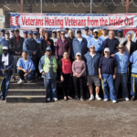 Sponsors and the Veterans Healing Veterans group on the Lower Yard