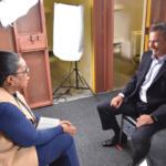 Oprah Winfrey interviewing Secretary Scott Kernan