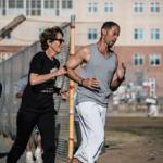 Diana Fitzpatrick running with Rahsaan Thomas