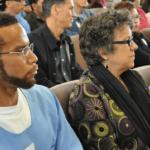 HRW Senior Advocate Children's Rights, Elizabeth M. Calvin and Antoine Brown in SQ's Protestant Chapel