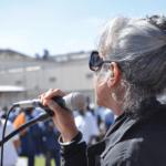 Chaplain Mardi Ralph Jackson speaking to the crowd