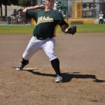 Robert Polzin on the mound at San Quentin