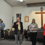 Tiburon Baptist Church volunteers John Eagan, Susie Erin & Sanet Allen