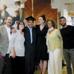 "Rick and Renee Roberts, Valedictorian Tommy ""Shakur"" Ross, Adrienne Skye Roberts, Fania Davis and Reggie Davis"