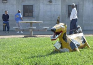 Cardboard Canines Scare Off Honkers