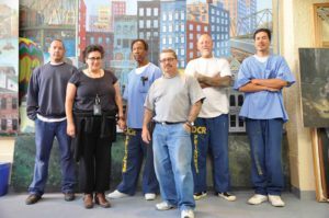 SQ Mural Artists Work to Beautify the Prison