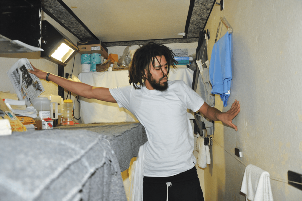 J. Cole feels the confines of a prison cell