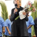 Kathleen Jackson saying goodbye