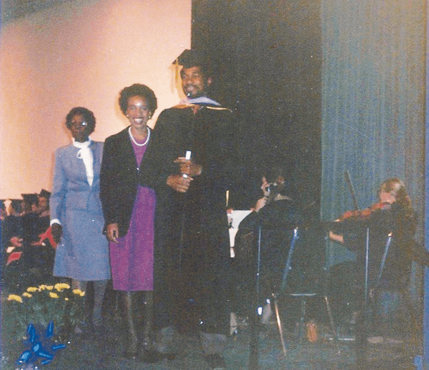 William Kuykendall receiving his degree