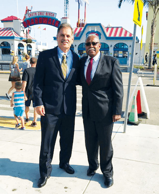 Arnulfo with Doug Butler at Santa Cruz Beach BoardWalk