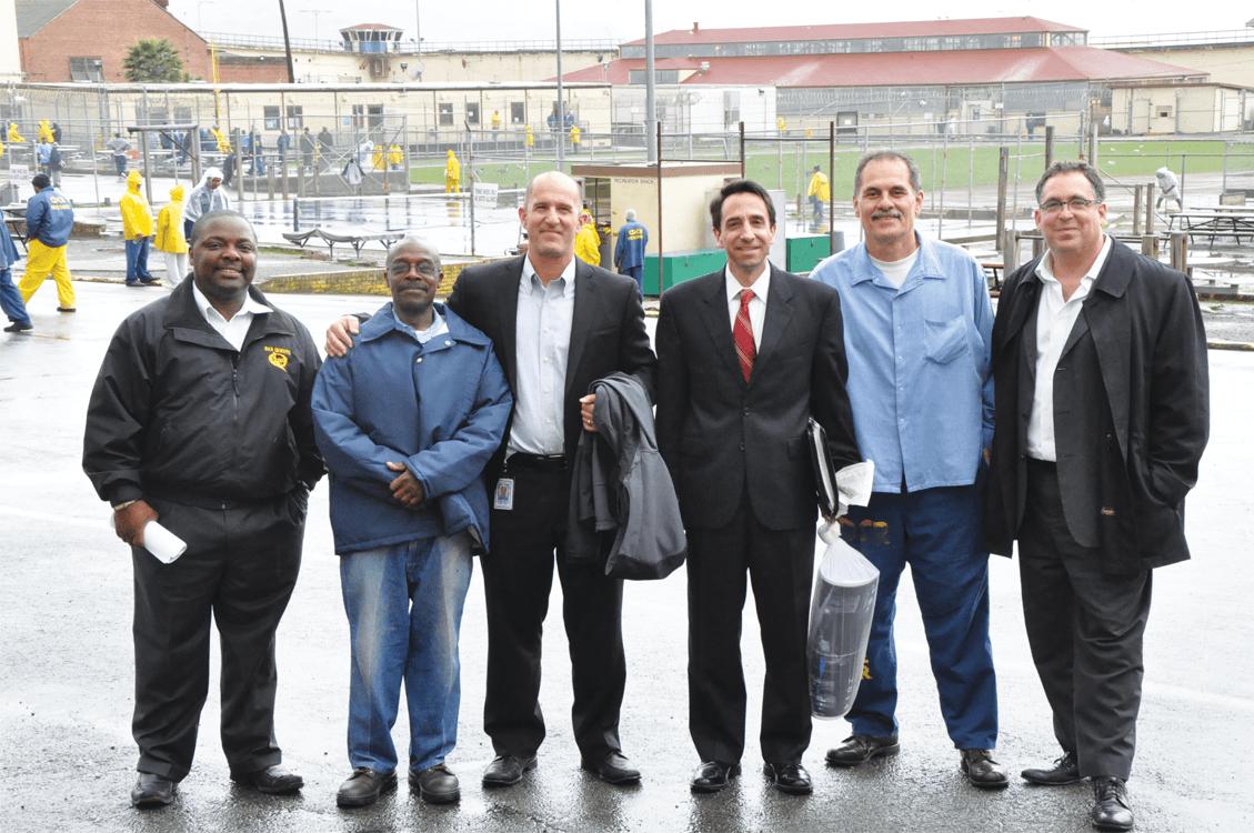 Lt. S. Robinson, Juan Haines, Sean Webby, Jeff Rosen, Arnulfo and Dan Barton