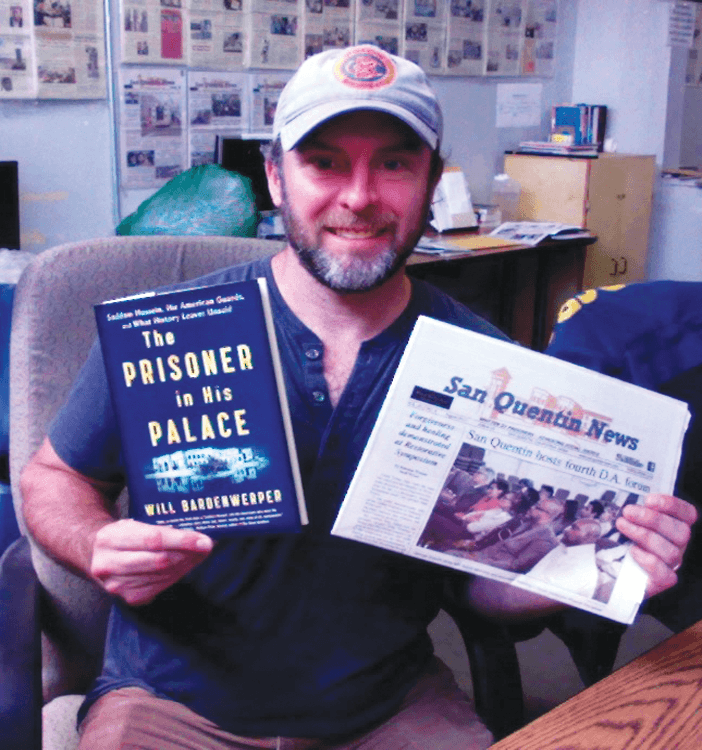 Author and Iraqi veteran Will Bardenwerper in the SQ newsroom