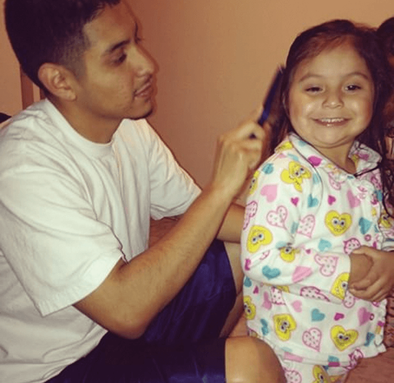 Daniel Gutierrez with his daughter Kaitlynn