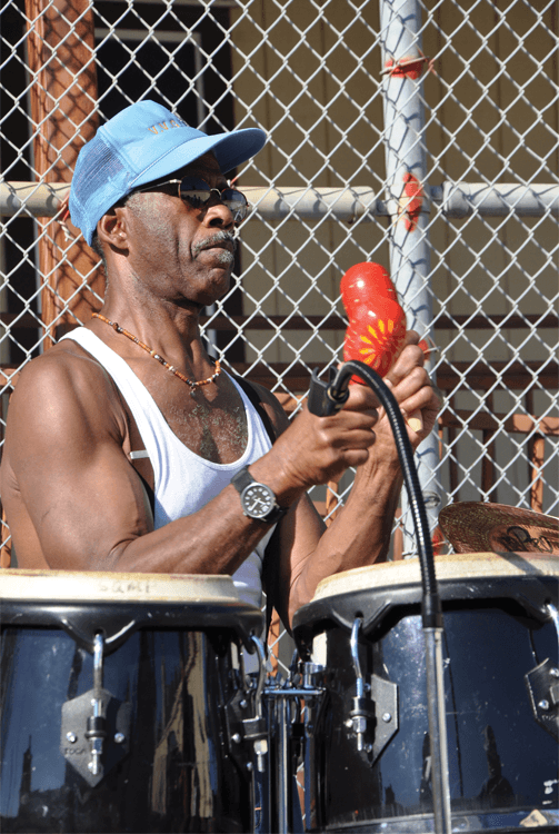 "Larry ""Popeye"" Faison on Latin percussions"