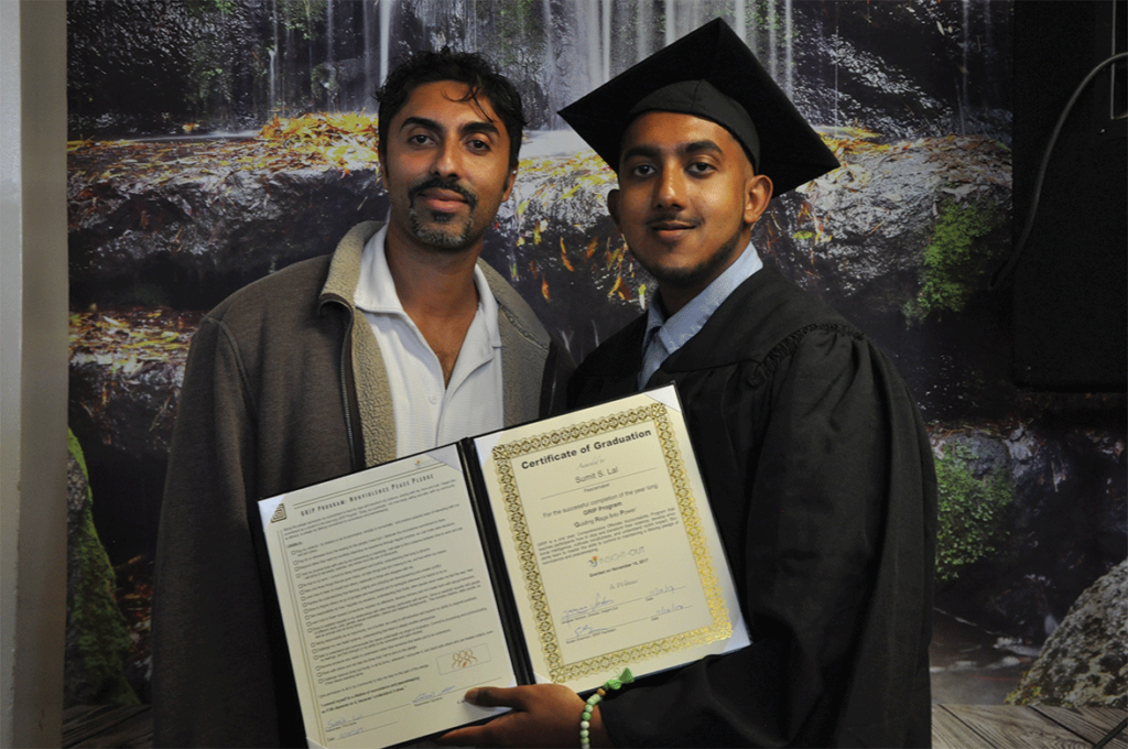 Graduate Sumit S. Lal with family during the GRIP graduation