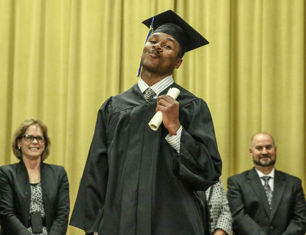 Fifteen students graduated Johanna Boss High School inside the OH Close Youth Correctional Facility Oct. 20. The youth celebrated the occasion with attending family and DJJ staff