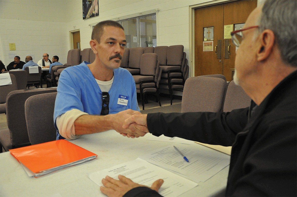 John Hesselbein interviewing with potential employer