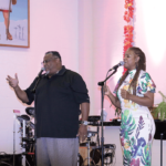 Former A.W. K.J. Williams and Debra Wynn singing gospelFormer A.W. K.J. Williams and Debra Wynn singing gospel
