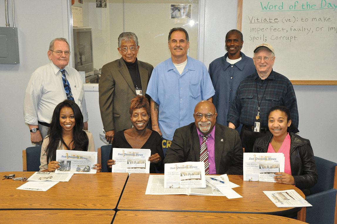 "Top: John Eagan, William Drummond, Arnulfo Garcia, Richard ""Bonaru"" Richardson, Steve McNamara. Bottom: Brittany Johnson, Felecia Gaston, Paul Cobb and Trinise Ferreira"