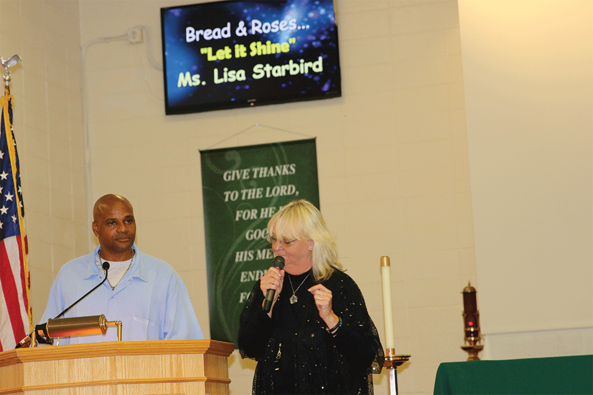 Louis A. Scott and Lisa Starbird hosting the event