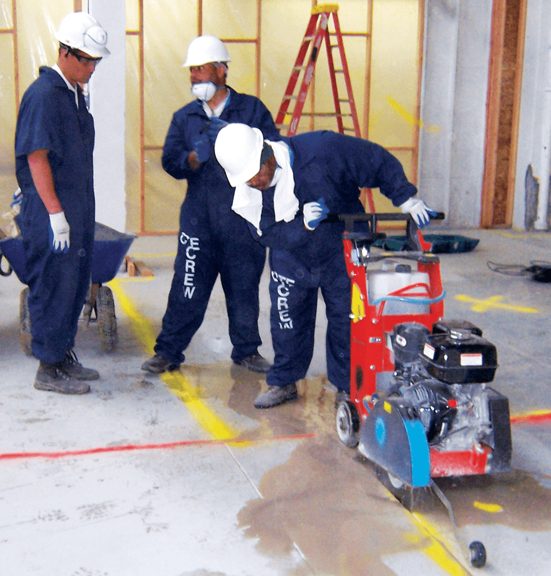 CTE laborers at work