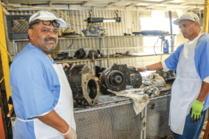 Folsom Auto Mechanic students Rojas and Medina