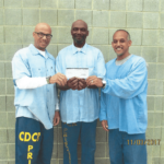 Members of Lifers With Optimistic Progress Group, Joe Bell, Ronnel Ross and Roy Walker