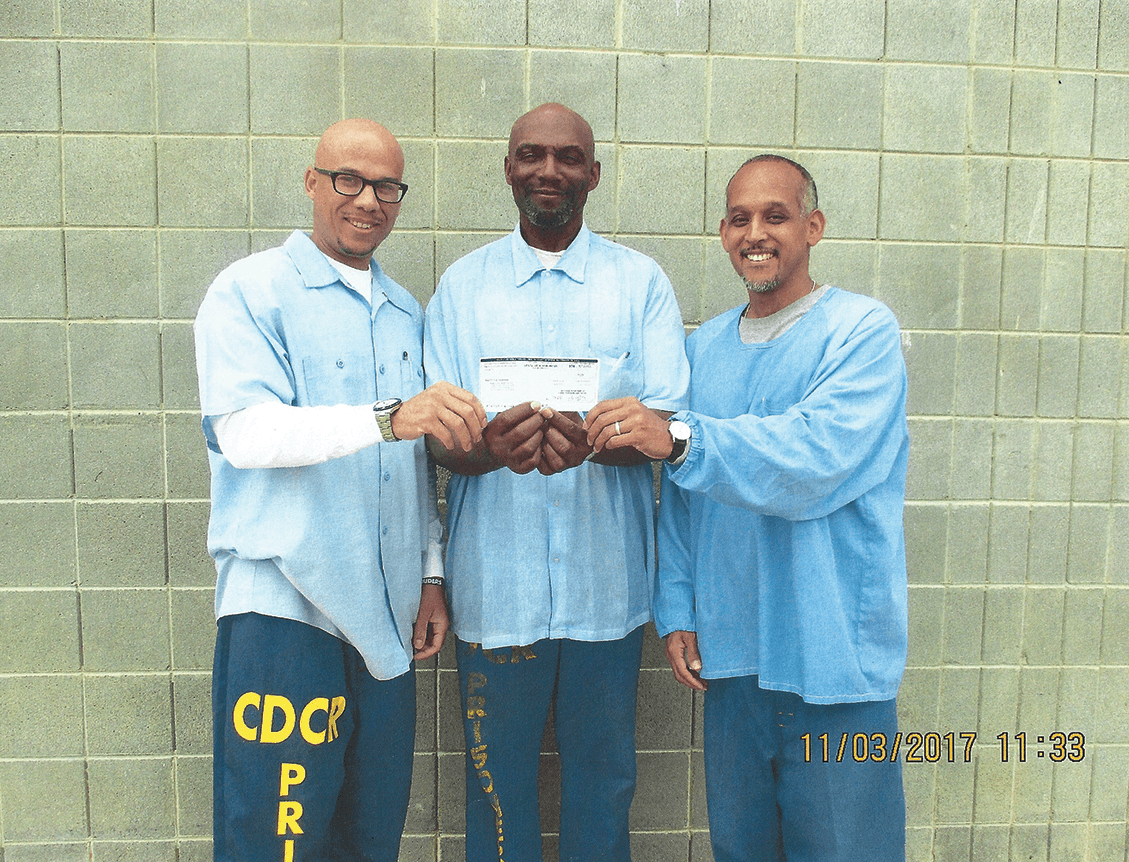 Members of Lifers With Optimistic Progress Group, Joe Bell, Ronnel Ross and Roy Walkerbecome