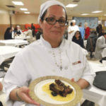 Mireya Flores showing off a tasty dish