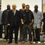 """Lt. Robinson, Branden Riddle-Terrel, Marvin Mutch, Mike Gattanella, Gotham Chopra, John """"Dunnie"""" Windham, Chris Uttwiller and Giselle Parets"""