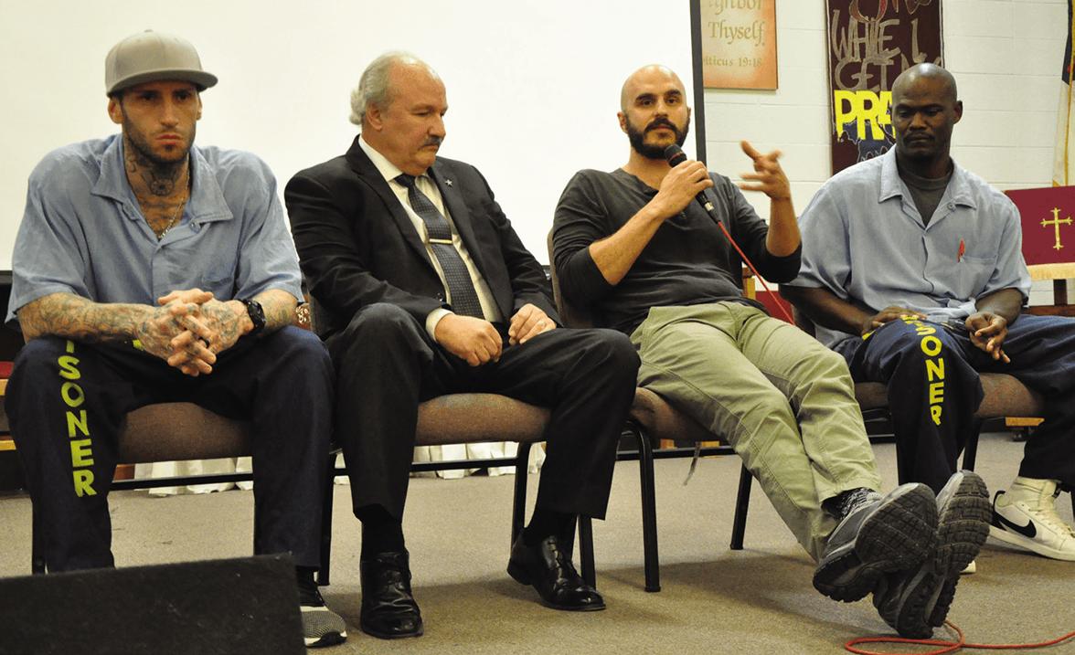 "Branden Riddle-Terrel, Marvin Mutch, producer Mike Gattanella and John ""Dunnie"" Windham"