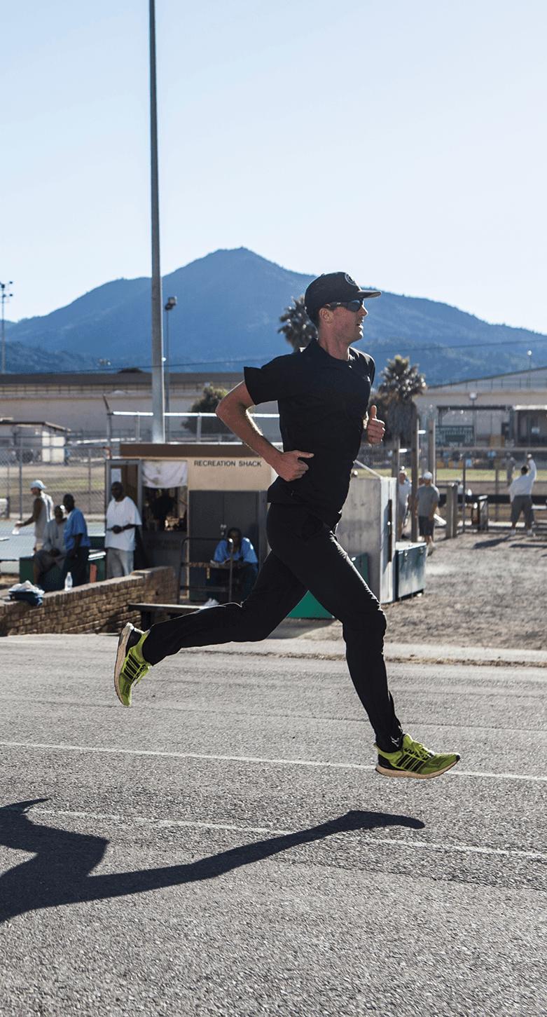 Professional ultra marathon runner Dylan Bowman on the Lower Yard