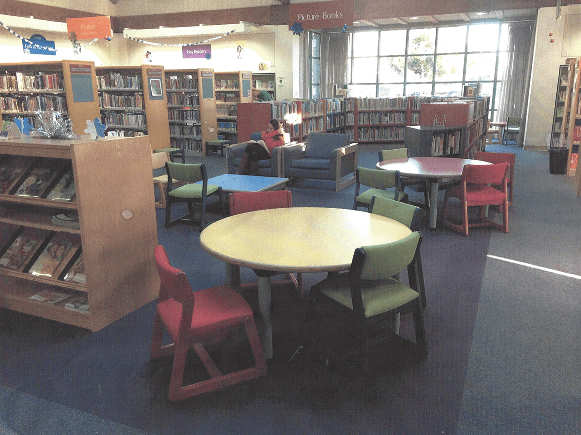 Benicia Public Library reading area