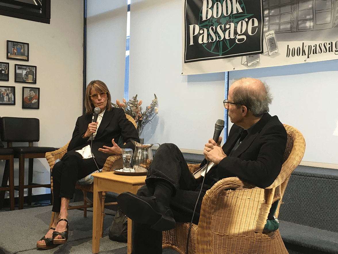 Author Nikki Meredith being interviewed by Michael Krasny, the host of the NPR Forum