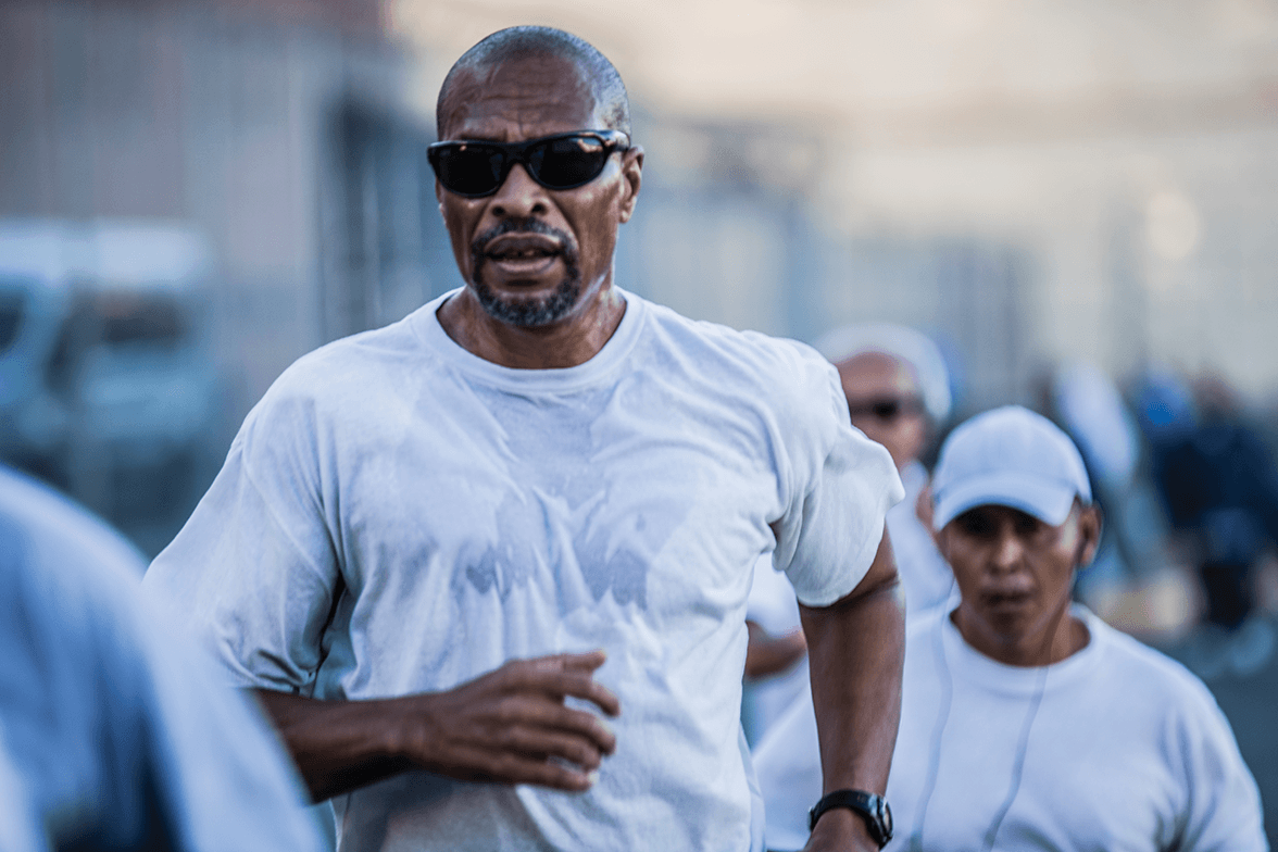 Bruce Wells running at San Quentin