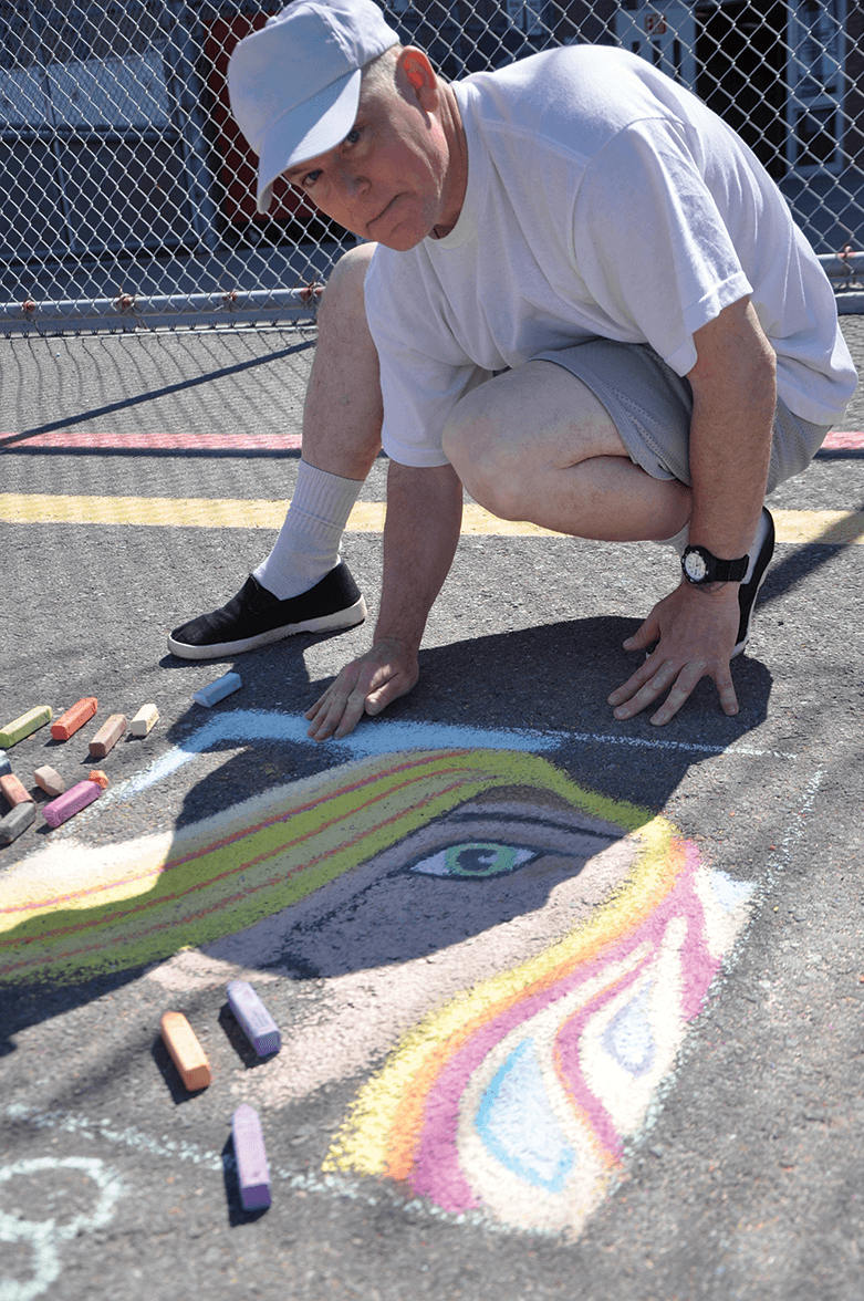 First Place chalk artist winner, Erik Rives