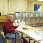 San Quentin News Adviser John Eagan at the ballot box