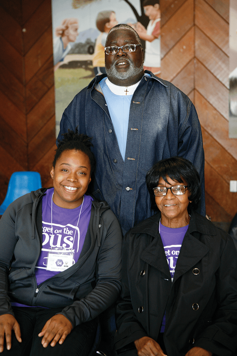 Ethel Wallace, Darrell Williams and Denshay Wallace