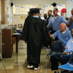Inmates graduating from the Prison University Project in San Quentin