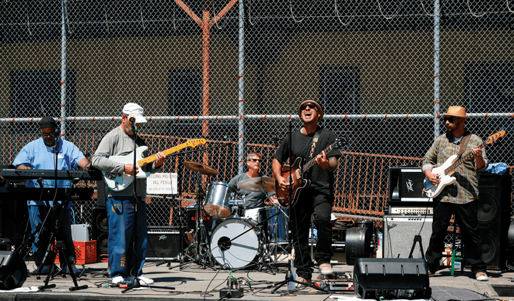 Maxx Cabello performing on the Lower Yard
